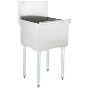 18 X18 X 14 Stainless Steel Commercial Utility Sink Prep Hand Wash Laundry Tub