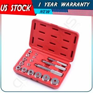 17pc Metric Bushing Bearing Driver Aluminum Install Remove Set 10 42mm W Case