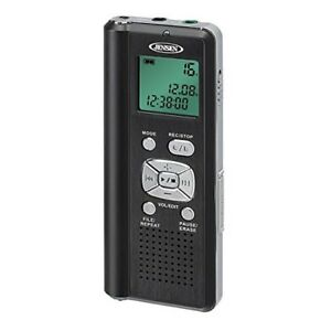 Jensen Jendr115 4gb Digital Voice Recorder W micro Sd Card Slot