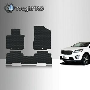 Toughpro Floor Mats Black For Kia Sorento All Weather Custom Fit 2014 2015