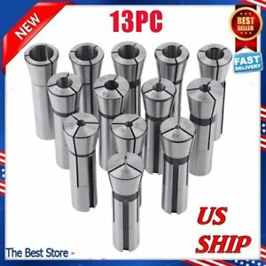 13pcs set 1 8 To 7 8 R8 Collet Chuck 0 0006 Holder Set High Precision Max