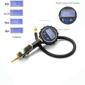 Tire Inflator Car Air Chuck High With Accurate Lcd Digital Pressure Gauge