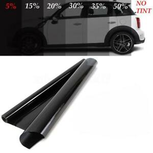 50cmx3m 5 Vlt Black Pro Car Auto Home Glass Window Tint Tinting Film Roll Tool