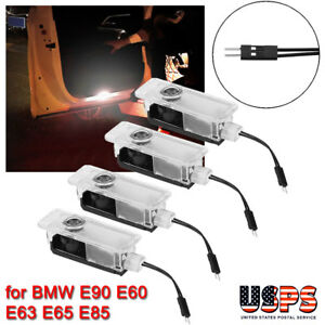 4 Pcs Led Logo Light Shadow Projector Car Door Courtesy Laser For Bmw E90 E60 Us