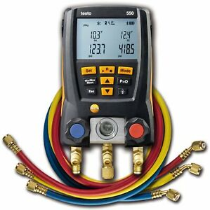 Testo 550 Hoses Digital Manifold Kit With Bluetooth And Set Of 3 Hoses