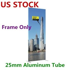 25mm Aluminum Tube Exhibition Booth Tension Fabric Display Stand Without Print