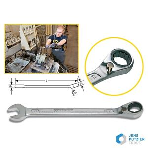 Hazet Combination Ratcheting Wrench Spanner 606 All Metric sizes 8 32mm