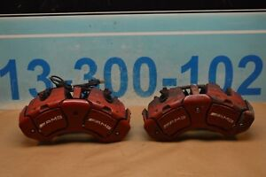 07 09 W221 Mercedes S63 Cl63 Amg Front Right Left Brake Caliper Calipers Pair