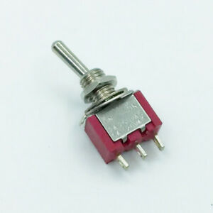 100pc Sub miniature Toggle Switch 2m 2ms3t1b1m2qes On off on 3p Spdt Ul