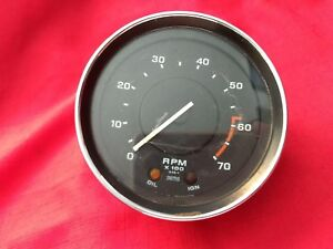 Oem Smiths Tachometer 2414 00as Triumph Tr6 1973 76 Used