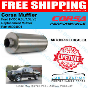 Corsa Replacement Muffler For 1999 2007 Ford F 350 6 0l 7 3l V8 8004001