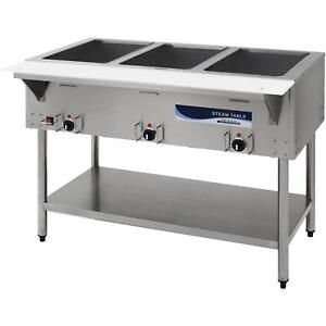 Commercial Kitchen 3 Well Electric Steam Table 45 Heavy Duty