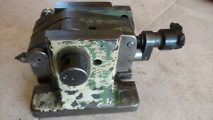 Vintage Indexing Dividing Head Rotary Table Adjustable Height Lathe Tailstock