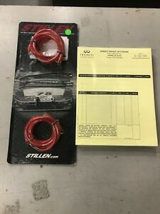 Stillen Grounding Kit Red Wires Nissan 350z 370z G354dr G37 D2r G25 M37 M56