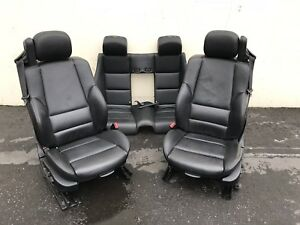2003 Bmw M3 E46 Black Leather Convertible Seats Set Front Rear Used 77k