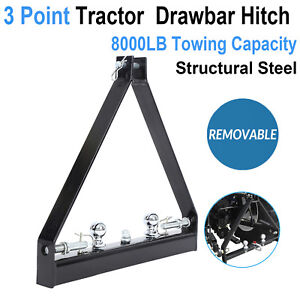 3 Point Trailer Hitch Trailer Category 1 Tractor Tow Drawbar Adapter Pull