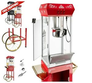 Olde Midway Popcorn Machine Vintage Antique Maker Popper Cart 16 Bicycle Style