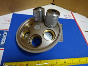 Microscope Part Nosepiece Objectives Reichert Austria Polyvar As Is 65 a 27
