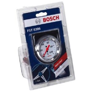 Bosch Style Line 2 Mechanical Oil Pressure Gauge White Face Fst8206 D3