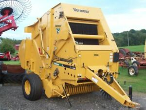 New Unused Vermeer 6640 Round Baler With Netwrap And Silage Kit