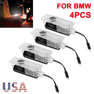 4x For Bmw Led Projector Car Door Lights Shadow Puddle Courtesy Laser Logo Lamp