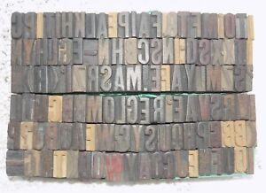 122 Piece Vintage Letterpress Wood Wooden Type Printing Blocks 20m m bc 5023