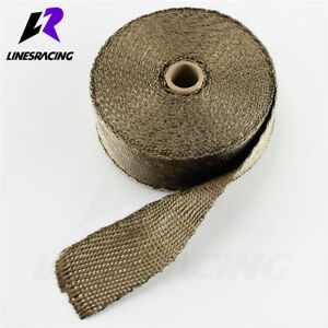 Exhaust Header Insulating Motorcycle Manifold Heat Wrap 2 X 50ft Roll Titanium