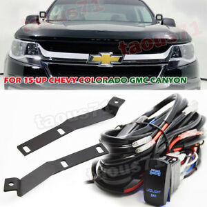 For Chevy Colorado Gmc Canyon Hood Ditch Side Light Pod Mount Bracket wiring Kit