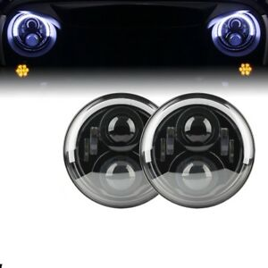 7 Led Headlight For Jeep Wrangler Jk Tj With Halo Angel Eye Turn Signal Light
