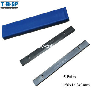 5pair 6 Inch Hss Thickness Compatible Planer Blades 156x16 3x3mm Woodworking