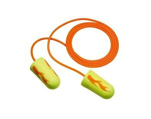 3m Corded Ear Plugs 33db Rated Disposable Tapered Shape Pk 200