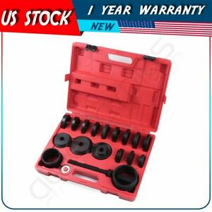 23pc Front Wheel Drive Bearing Press Tool Removal Adapter Puller Pulley Set