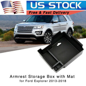 Car Armrest Storage Box For Ford Explorer 2013 2018 Center Console Tray