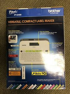 Brand New Retail Box Brother P touch Pt d400 Versatile Compact Label Maker