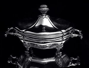 Antique Silver Soup Stew Tureen 1850 1899 Bowls 19th Century Museum Quality