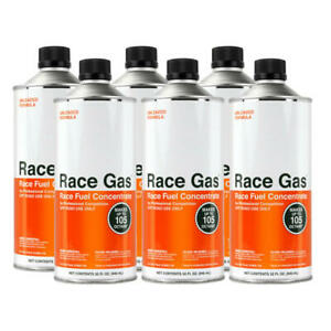 Race Gas Fuel Additive 100132 Concentrate 32oz Octane Booster 105 Max 6pk