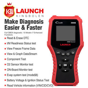 Launch Obd2 Scanner Cr3008 Universal Full Obdii Engine Code Reader Scan Tool