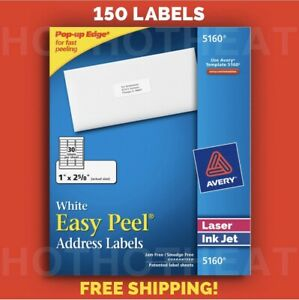 150 Avery 5160 6240 8160 5960 Address Mailing Shipping Labels 1 X 2 5 8