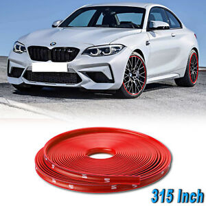 Red Car Wheel Hub Rim Edge Protector Ring Tire Guard Rubber Sticker Fit Bmw