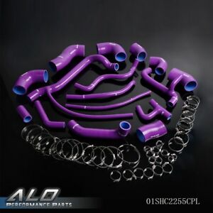 Purple Silicone Radiator Turbo Hose Kit For Vw Volkswagen Corrado G60 1 8t 16v
