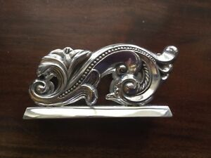 Brighton Business Card Holder For Desktop Ornate