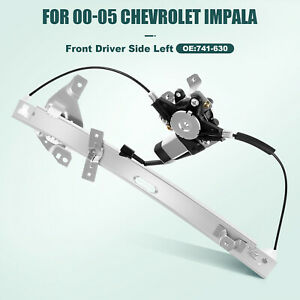 For 2000 2005 Chevy Impala 3 4 3 8l Power Window Regulator Front Left With Motor