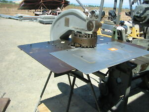 Rotex Model 18a Turret Punch On Stand With Shear