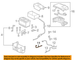 Gm Oem Battery positive Cable 20781417