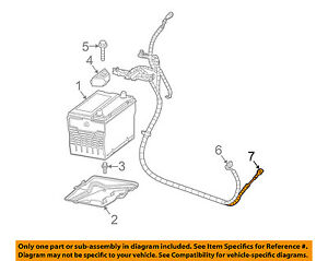 Gm Oem Battery negative Cable 88987142