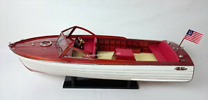 Chris Craft Sea Skiff Ship Model 26 Handcrafted Wooden Model Scale 1 10 New