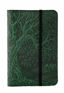 Tree Of Life Oberon Design Custom Green Leather Pocket Moleskine notebook Cover