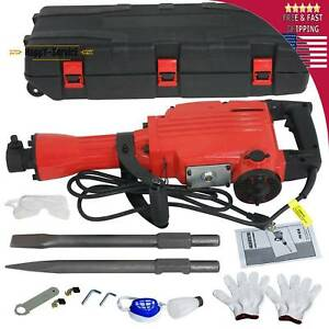 2200w Electric Demolition Jack Hammer Concrete Breaker Power 2 Chisel 2punch Bit