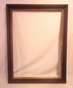 Large Antique Victorian Walnut Frame 25 3 4 X 33 3 4 Holds 22x30 Molding 2