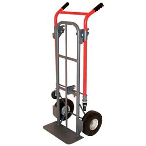 Milwaukee 800 lb Capacity Red Steel Convertible Hand Truck